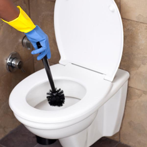 detta städas noggrant: rengöring av badrum och toalett